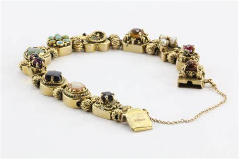 antique figural charm slide bracelet for sale at