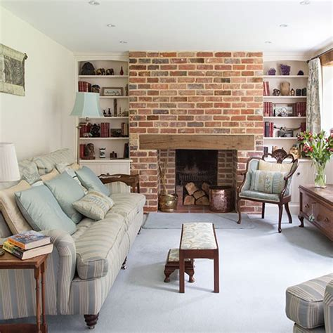 Living Room Chimney traditional living room with brick chimney decorating