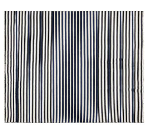 pottery barn striped rug kyle stripe loomed rug navy pottery barn