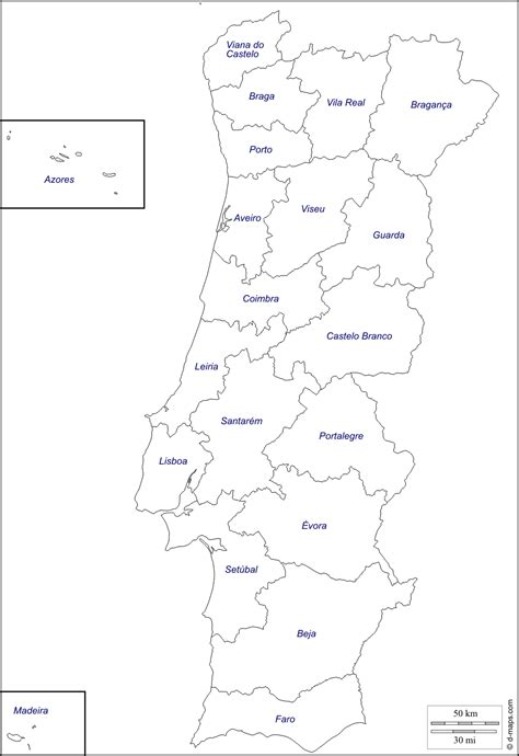 Portugal Map Outline by Portugal Black And White Clipart Clipground