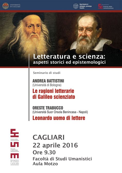 unica it lettere letteratura e scienza seminario di studi 22 aprile