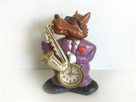 Alarm Jazz jazz wolf clock vintage rhythm speak up alarm clock