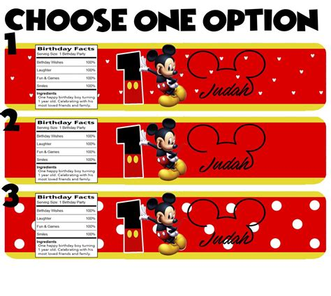 decorar botellas minnie personalized mickey mouse water bottle labels sandra