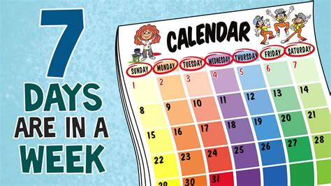 seven days name of week days of the week song 7 days of the week children s songs