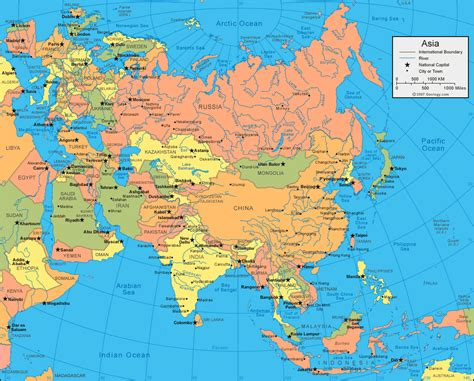 Asia On World Map by Map Of Asia Asia Planetolog Com