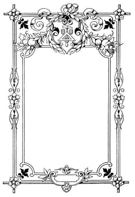 Frame Clipart 1049849 Illustration By by Ornate Vintage Frame Free Clip Design Shop
