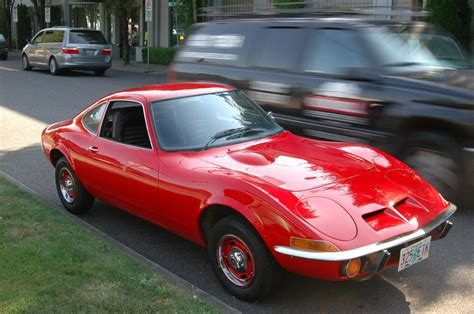 opel car old parked cars 1970 opel gt