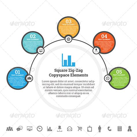 Half Circle Point Infographic By Hermin Utomo Graphicriver Circle Infographic Template