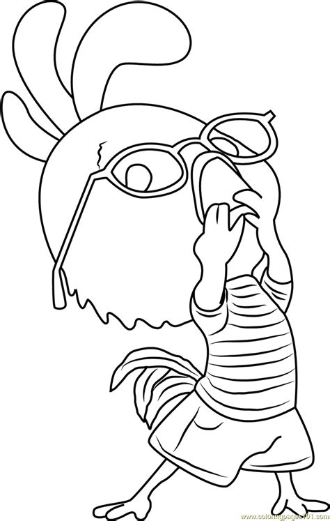 chicken little funny coloring page free chicken little