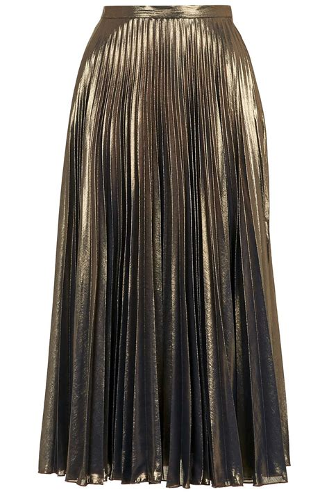 Metallic Pleated Midi Skirt metallic pleated midi skirt topshop