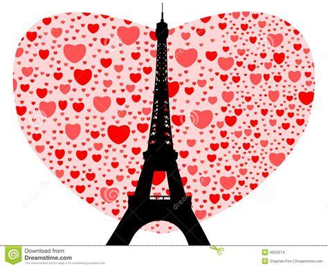 imagenes de zapatos con corazones torre eiffel con los corazones ilustraci 243 n del vector
