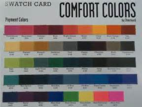 comfort colors color swatch comfort colors screen printing signs embroidery