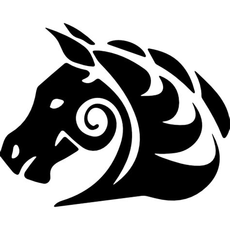 tattoo icon png horse tattoo variant facing the left free animals icons