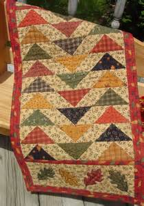 autumn pattern for quilted table runner wall hanging