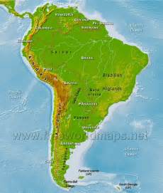 Latin America Physical Features Map by Best Photos Of Physical Map Of South America Latin