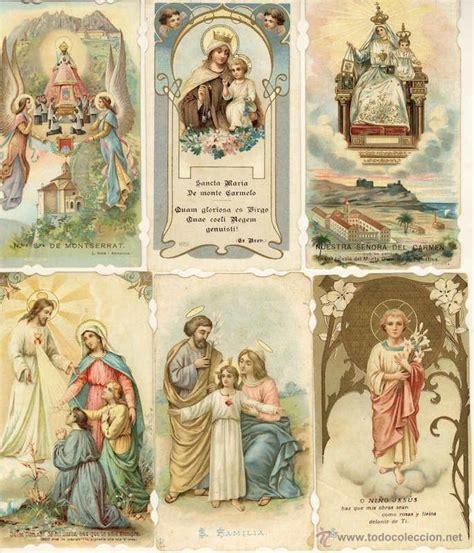 imagenes religiosas barcelona precioso lote de 6 estitas religiosas muy an comprar