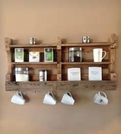 salvaged wood coffee tea shelf home decor lighting