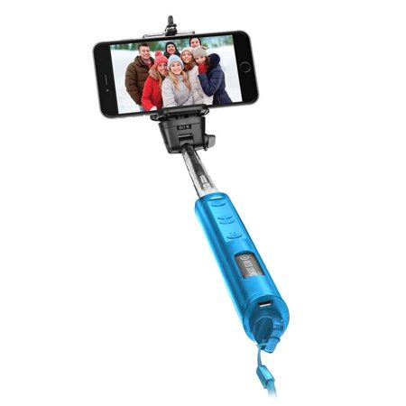 Extendable Monopod Blue smart gear 40 quot bluetooth telescoping extendable monopod