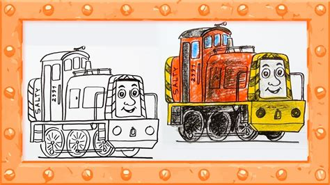 salty train coloring page how to draw salty thomas and friends drawing and