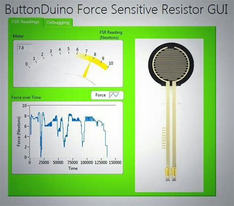 sensitive resistor tutorial buttonduino can now be used to measure using a sensitive resistor or fsr the