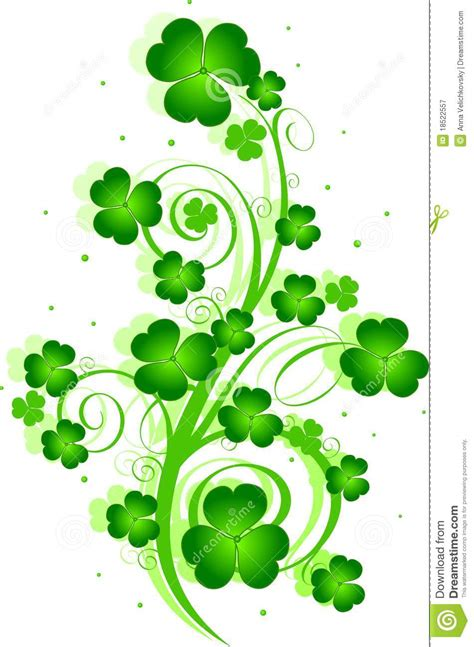 st patricks day st s day swirl stock vector illustration of festival 18522557
