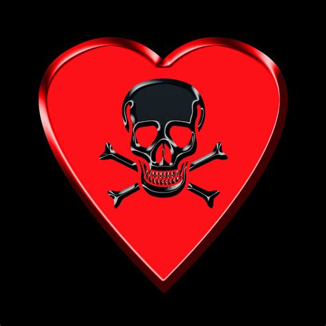 Black Red Duvet Cover Jolly Roger Red Heart Photograph By Andrew Fare