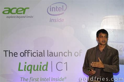Fries 2000 Ecer launch of acer liquid c1 intel powered smartphone