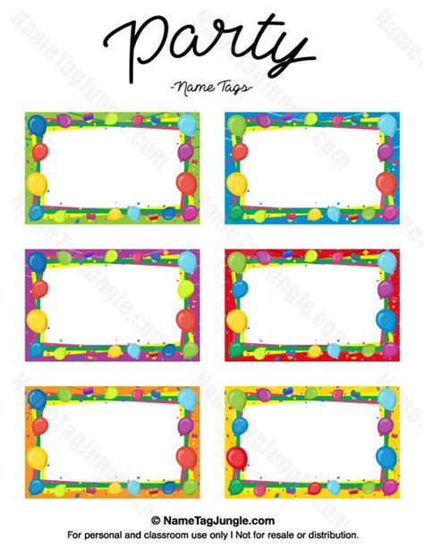 birthday place card templates free 268 best name tags at nametagjungle images on