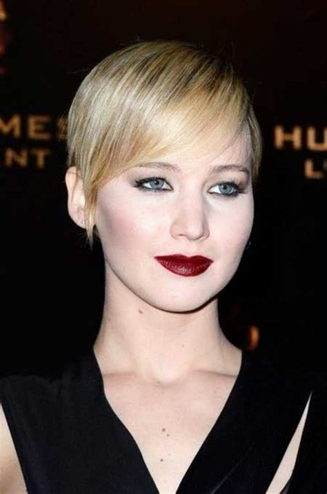 2014 short hairstyles for round faces jennifer lawrence short hair pixie haircuts for fine hair and round faces hair