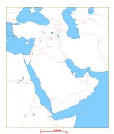 blank map of middle east geography middle