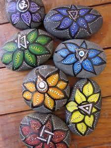 Rock Lotus Lotus Chakra Series Of 7 Painted River Sea Rock