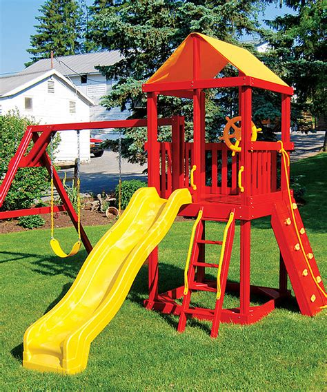 red swing set choosing playground sets for backyards webnuggetz com