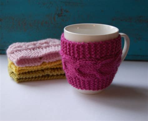 knitted mug warmers pattern cyber monday coffee cup cozy knit from maruwool on etsy