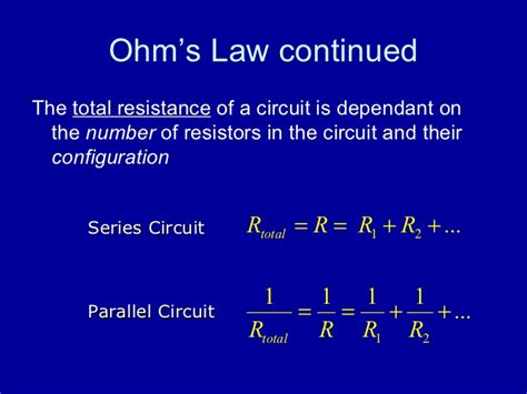 resistors connected in series and parallel obey conservation laws ppt ohm s