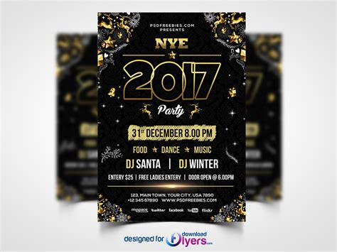 new year template psd new year flyer psd template flyer psd