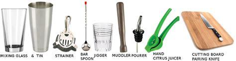 Bartender Equipment Bartending Guide Study Lesson 1