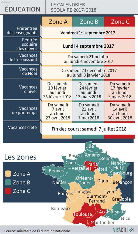 Calendrier De L Annee Calendrier De L 233 E Scolaire 2017 2018 C Est Quand Les