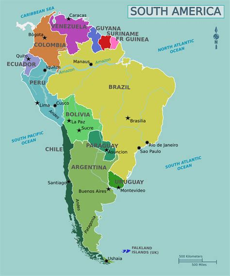 map of south america with cities political map of south america south america