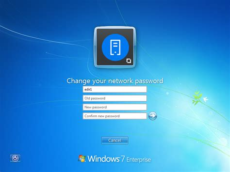 windows vista enterprise password reset changing passwords client for open enterprise server