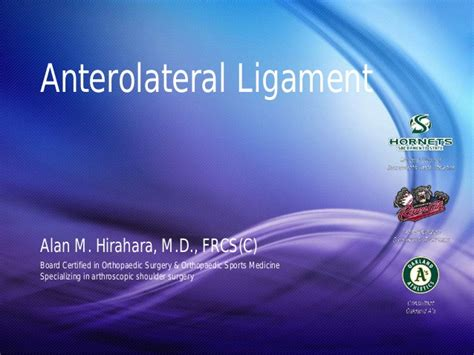 Alan Tuchman M D Mba Linkedin by Anterolateral Ligament All