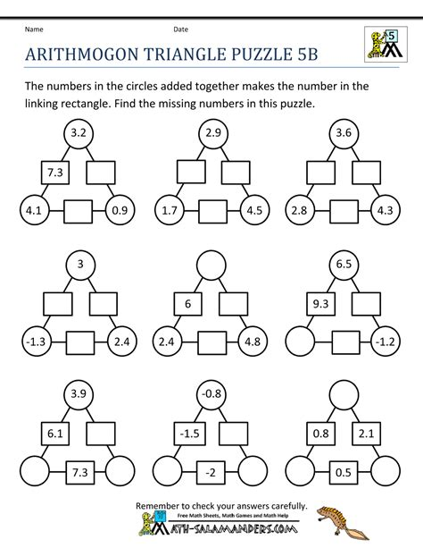 printable puzzles for kids printable math puzzles 5th grade