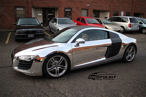audi r8 wrapped chrome audi r8 vehicle customization shop vinyl car