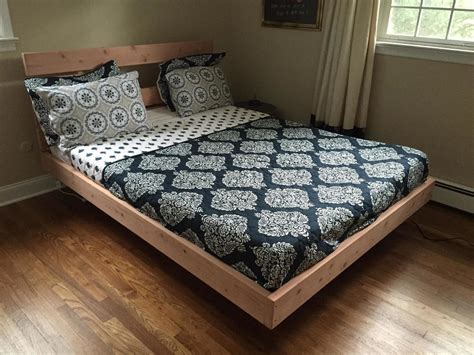 diy floating bed frame this guy made diy floating bed in simple steps wait till