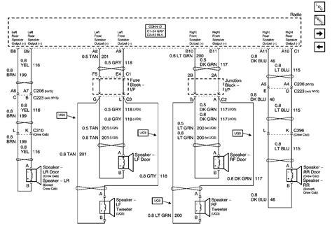 gmc sierra  factory radio schematic
