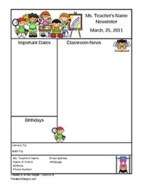 1000 Images About Newsletter Kindergarten On Pinterest Newsletter Templates Classroom Free Classroom Newsletter Templates