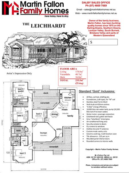 the leichhardt martin fallon family homes toowoomba
