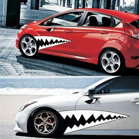 Auto Sticker by 2pcs Waterproof Diy Shark Teeth Car Sticker Auto