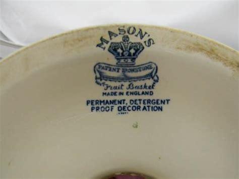 vintage ironstone blue transferware ham stand