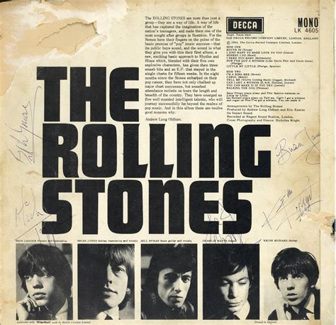 lot detail rolling stones signed vintage record album cover signed including brian jones