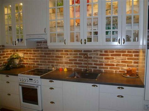 brick tile backsplash kitchen kitchen small galley kitchen makeover with brick